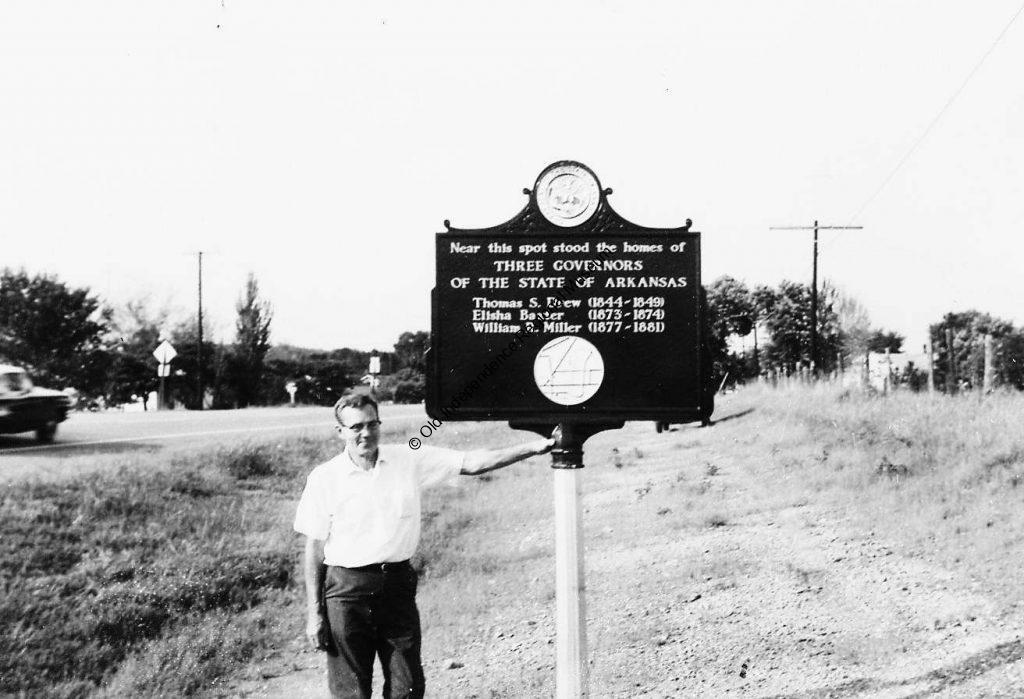 """Captain Charles Warner at the famed """"Governors' Corner"""""""