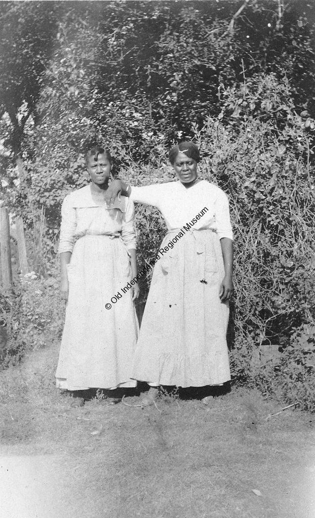 """photo of """"Coz"""" and Amy, two free Black women in Fitzhugh, Arkansas"""
