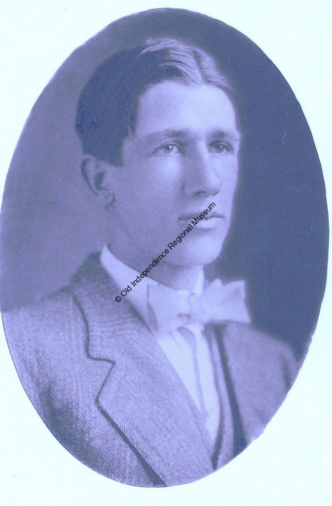 Frank Handford in oval portrait as a young man